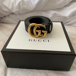 Black & Gold GG Gucci belt ✨.